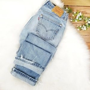 Vintage Levis 501xx Straight Leg Jeans Destroyed
